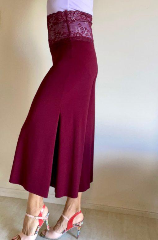 Side view of Cabernet Wide Leg Tango Pants