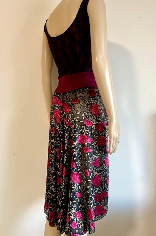 Back view of Velvet Rose Tango Dress