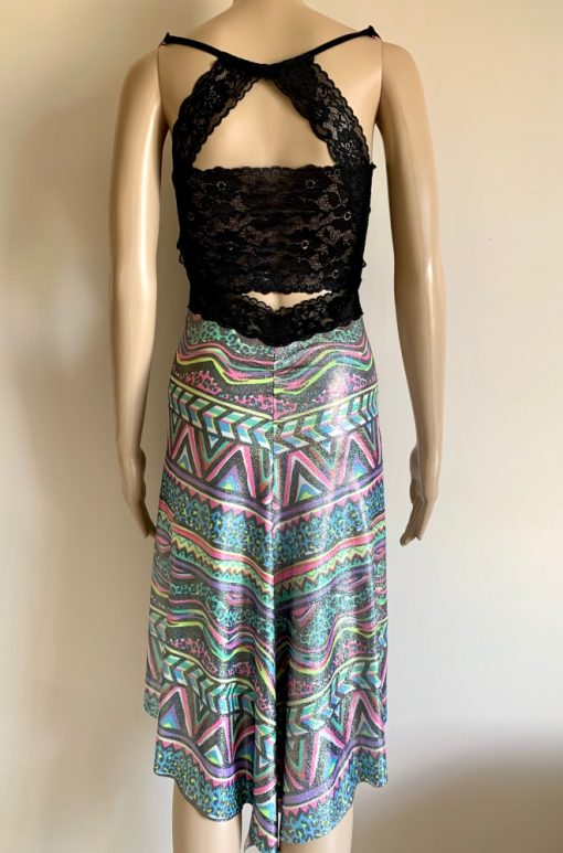 Back view of Coloured Zebra Lace Dress