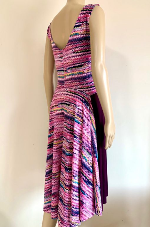 Back view of Twisty Pink Fantail Dress