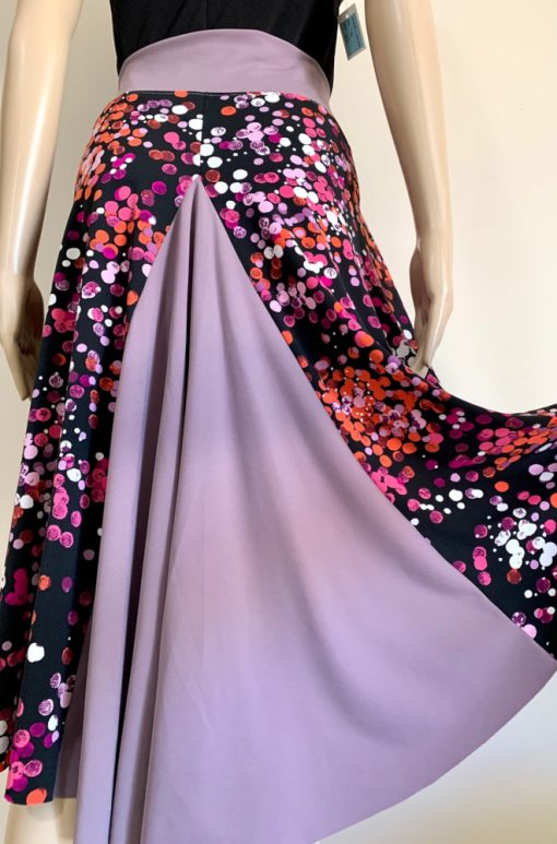 Back view of Colourful Bubbles Tango Skirt