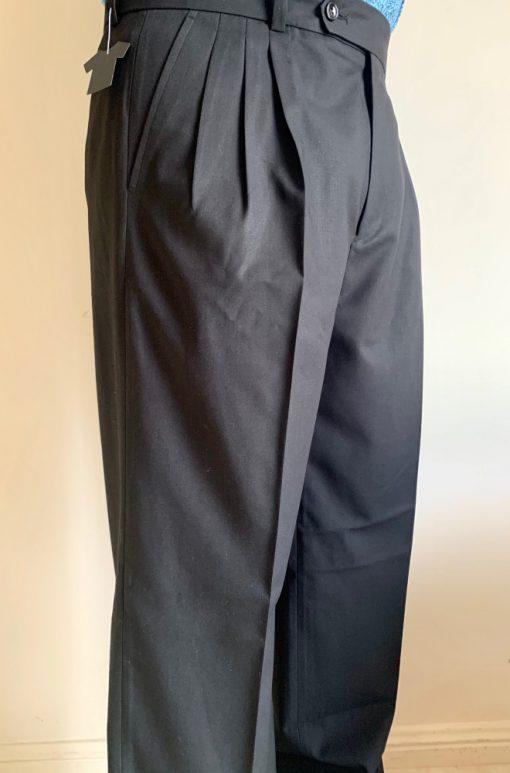 Side view of Men's Black Tango Pants